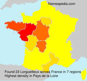 Surname Lorgueilleux in France
