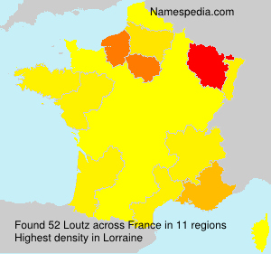 Surname Loutz in France