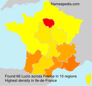 Surname Lucio in France