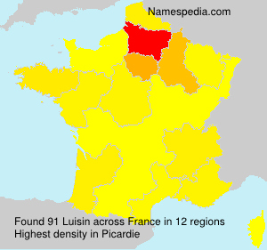 Surname Luisin in France