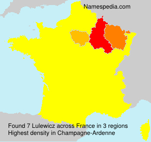 Surname Lulewicz in France