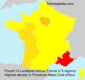 Surname Lundquist in France