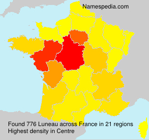 Surname Luneau in France