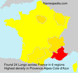 Surname Lungo in France