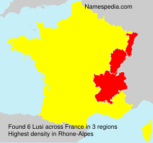 Surname Lusi in France