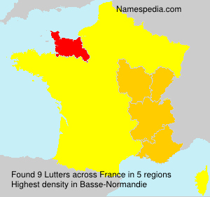 Surname Lutters in France