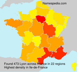 Surname Lyon in France