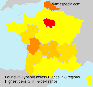 Surname Lyphout in France