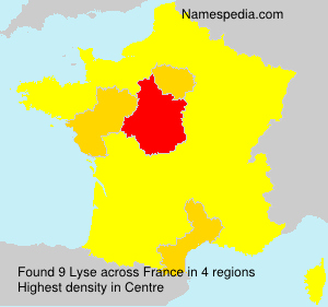 Surname Lyse in France