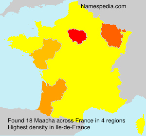 Surname Maacha in France