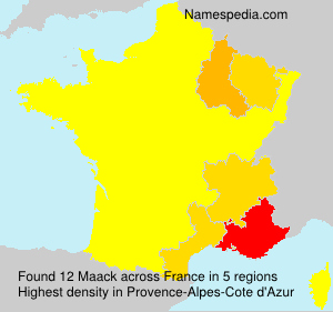 Surname Maack in France
