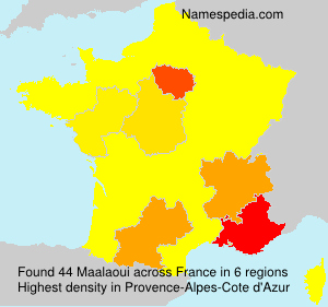 Surname Maalaoui in France