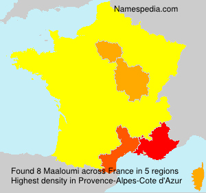 Surname Maaloumi in France