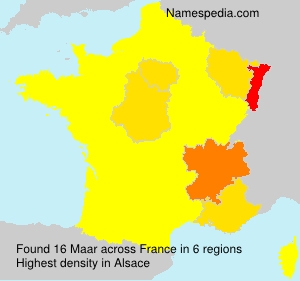 Surname Maar in France