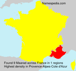 Surname Maarad in France