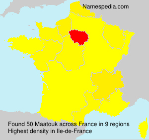 Surname Maatouk in France