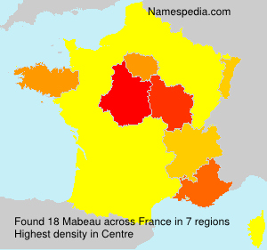 Surname Mabeau in France