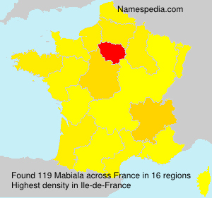 Surname Mabiala in France