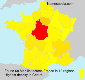 Surname Mabillot in France