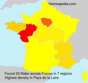 Surname Mabo in France