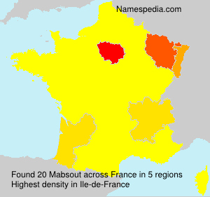 Surname Mabsout in France