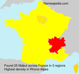 Surname Mabut in France