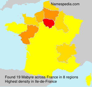 Surname Mabyre in France