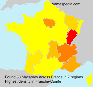 Surname Macabrey in France