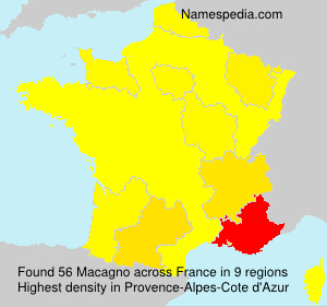 Surname Macagno in France