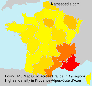 Surname Macaluso in France