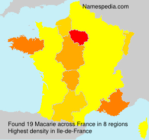 Surname Macarie in France