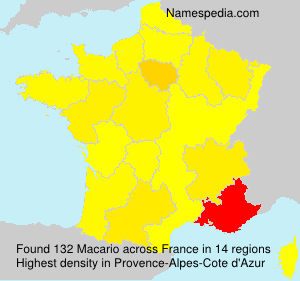 Surname Macario in France