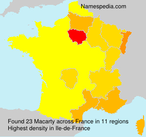 Surname Macarty in France