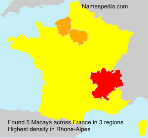Surname Macaya in France