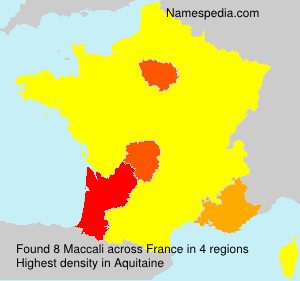 Surname Maccali in France