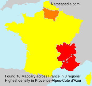 Surname Maccary in France