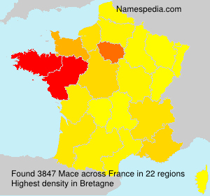 Surname Mace in France