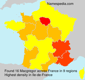 Surname Macgregor in France