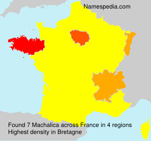 Surname Machalica in France