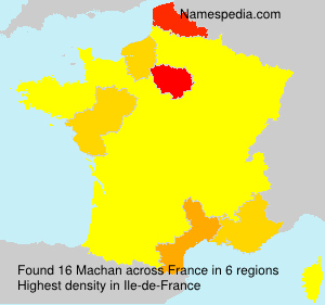 Surname Machan in France