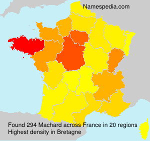 Surname Machard in France