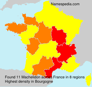 Surname Machelidon in France