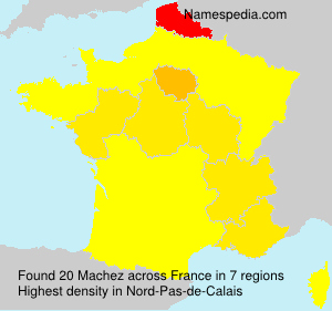 Surname Machez in France