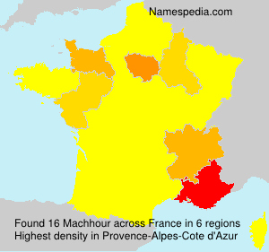 Surname Machhour in France