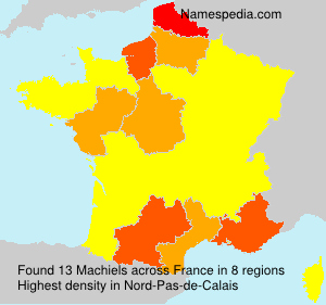 Surname Machiels in France