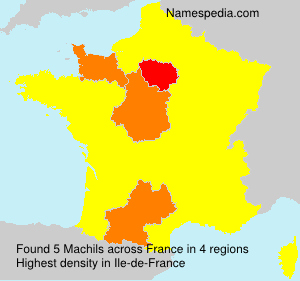 Surname Machils in France