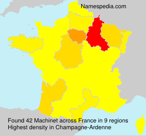 Surname Machinet in France