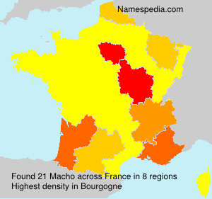 Surname Macho in France