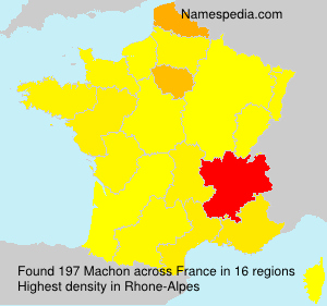Surname Machon in France