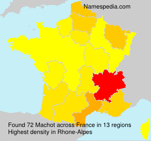 Surname Machot in France